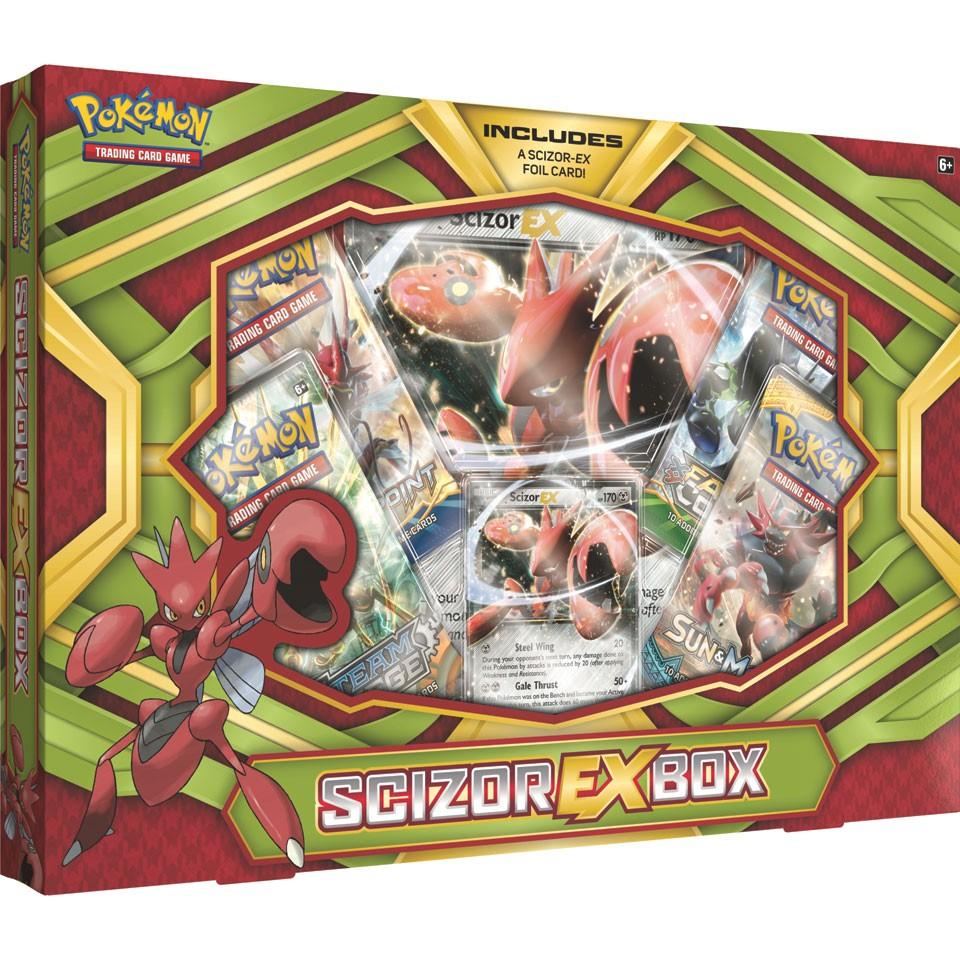 Pokémon TCG EX Box Scizor of Kingdra met een EX-kaart en 4 pakjes van 25 voor 16 @ Intertoys