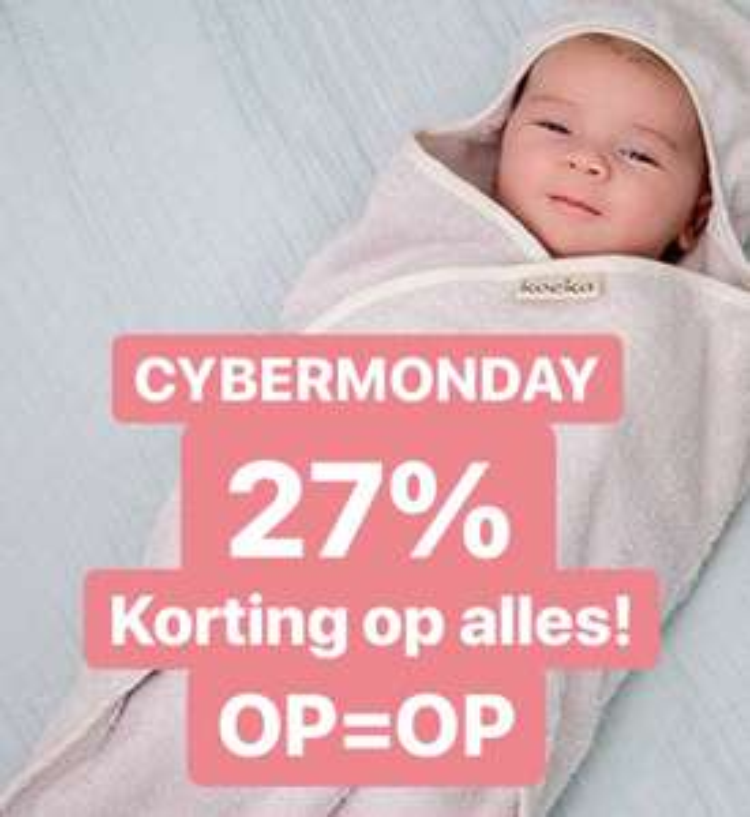 27% korting op Koeka, Done by Deer, Snoozebaby en Kidsdepot.