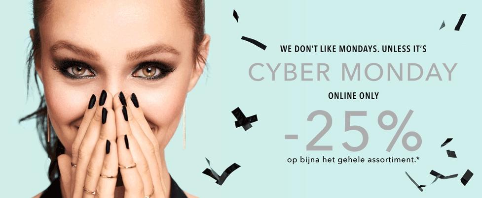 Cyber monday korting @ douglas -25%