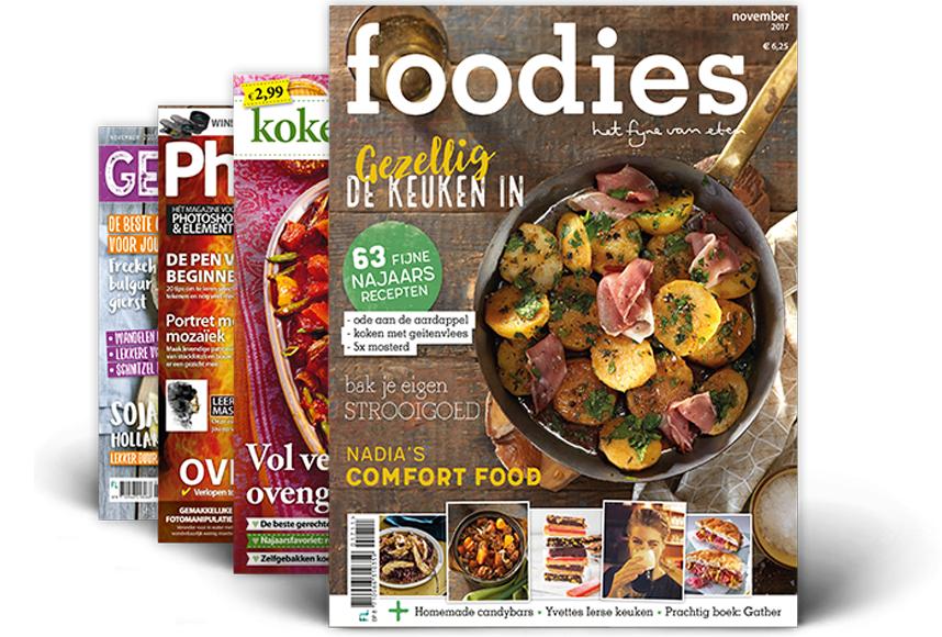 15 verschillende tijdschrift abonnementen met hoge kortingen.