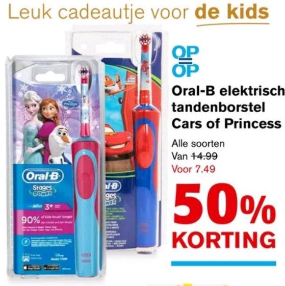Oral B elektrische kinder tandenborstel voor €7,49 @ Hoogvliet