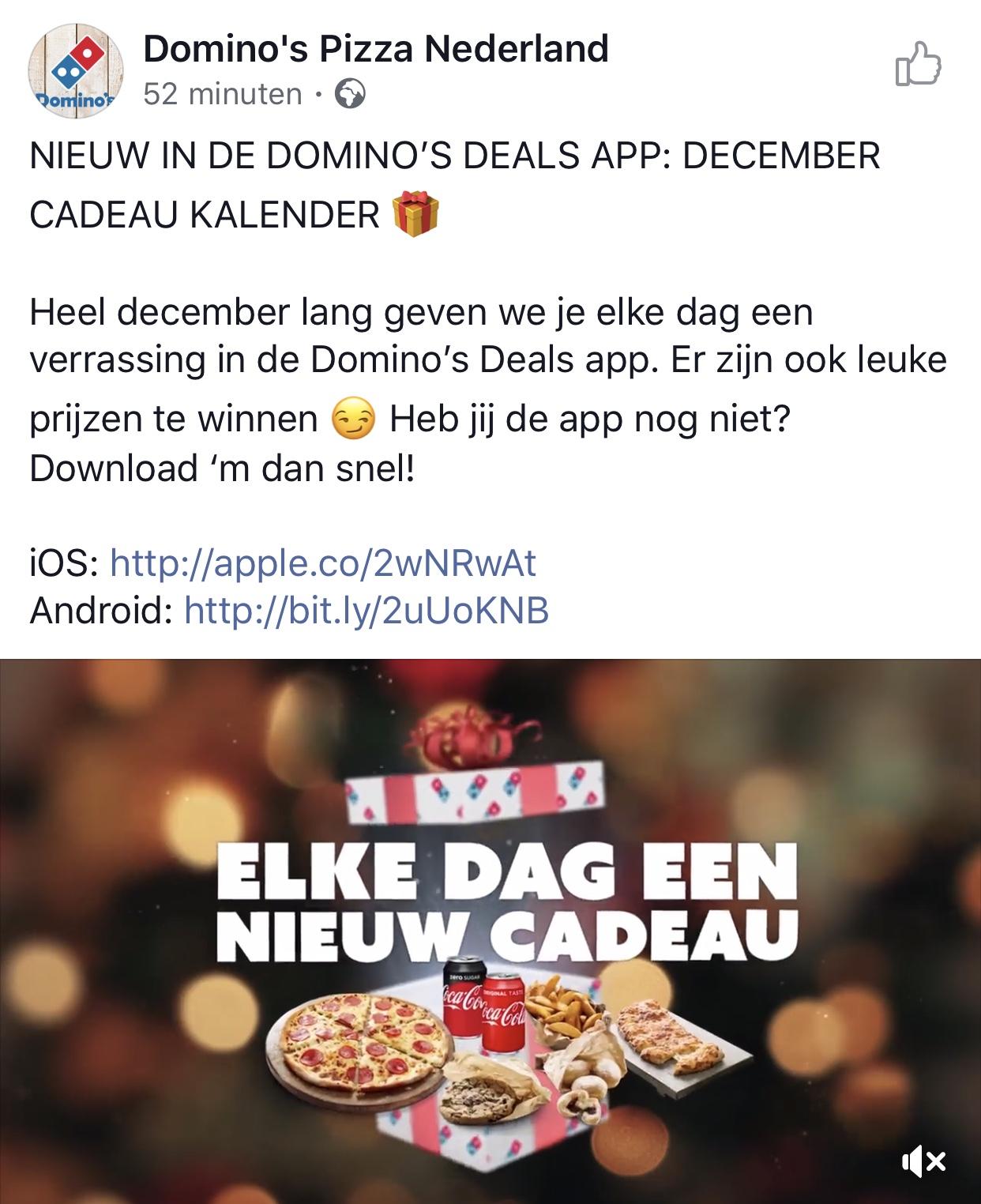 December deals bij Domino's