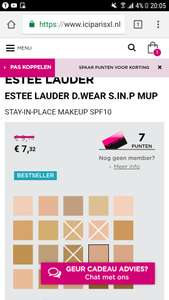 Foundation van Estee Lauder 3c2 @ ICI Paris XL