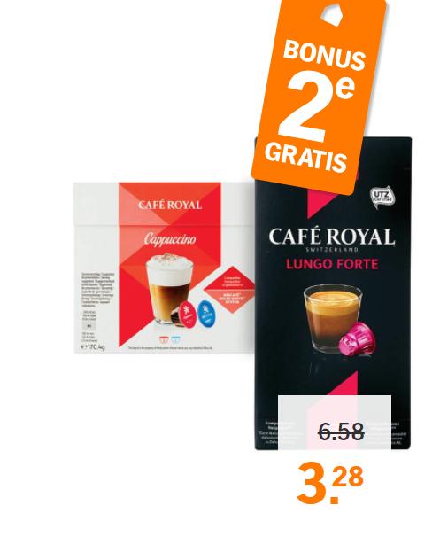 1+1 gratis op Café Royal voor Dolce Gusto apparaten @ AH (vanaf maandag)