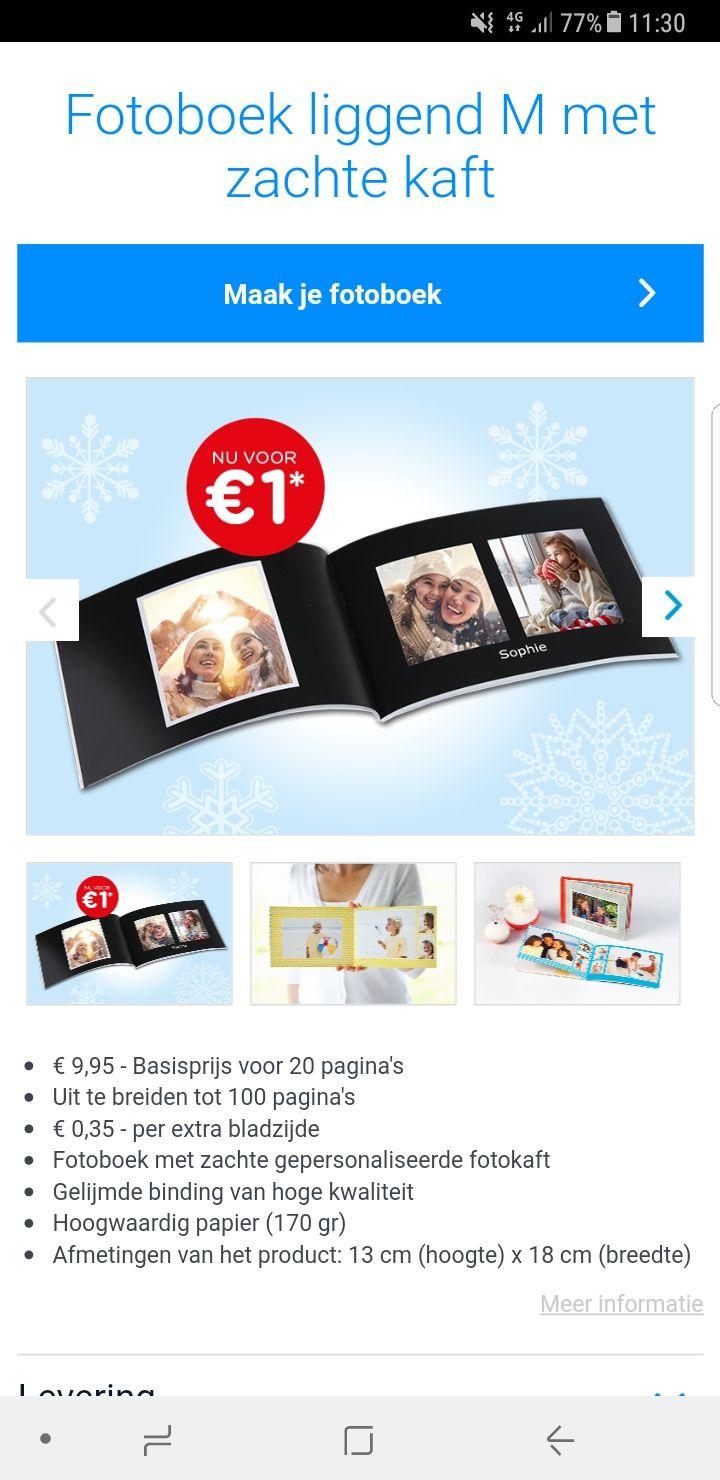 Fotoboek voor 1 euro (excl verzendkosten )