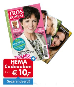 Tros Kompas of TV krant voor 26 weken + hema cadeaukaart van €10,-