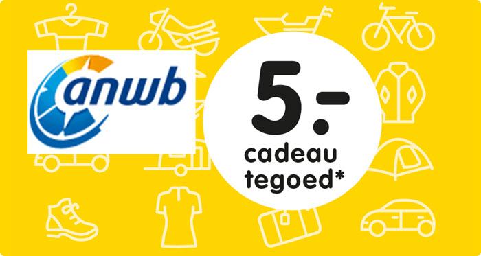 5,-  Euro cadeau voor leden @ ANWB (web)winkel
