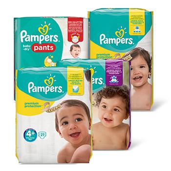 Pampers 4 voor €20 / 2 voor €10 @ Dirk / Dekamarkt