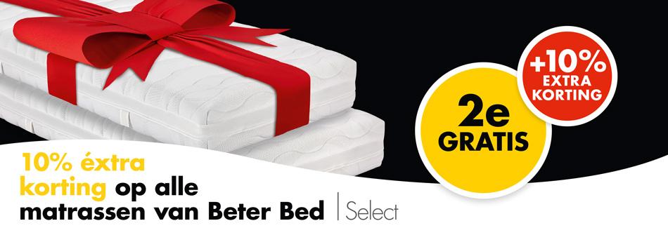 Alleen vandaag 2 matrassen voor de prijs van 1 en 10% korting @BeterBed