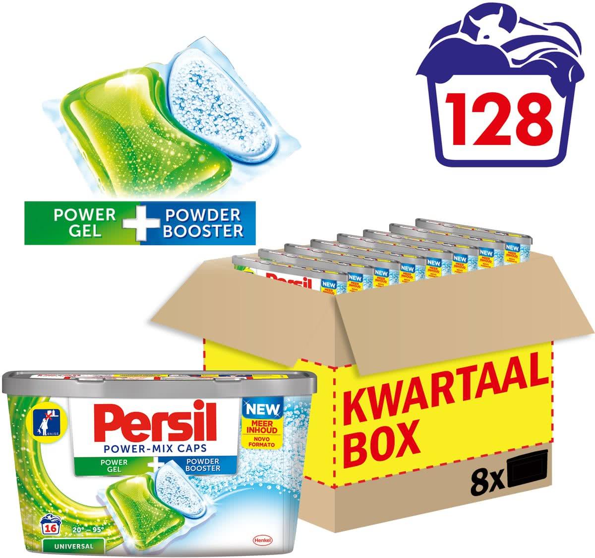 Persil Power-Mix caps kwartaalbox (128 wasbeurten) voor €12,99 @ Bol.com