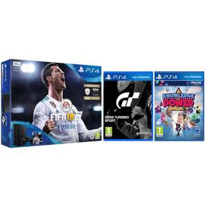 PS4 Slim 500GB Console + FIFA 18 + GT Sport + Knowledge Is Power voor €226 @ Zavvi.com