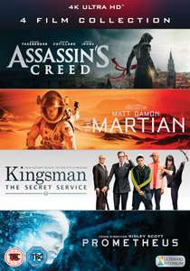 Prijsfout? 4K Blu-ray box (Assassin's Creed, Martian, Kingsman en Prometheus)