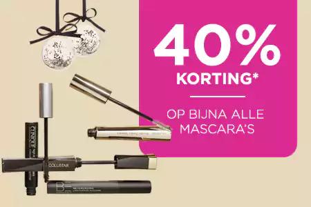 40% korting op (bijna) alle mascara's @ IciParisXL
