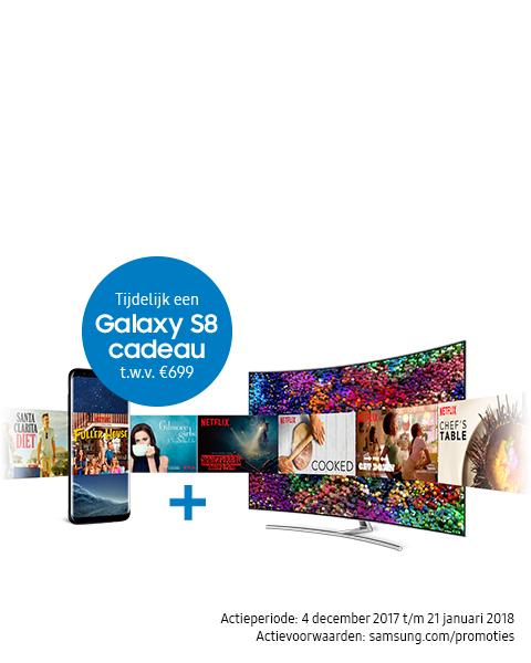 Gratis Galaxy S8 en geld retour bij geselecteerde tv's @ samsung.com