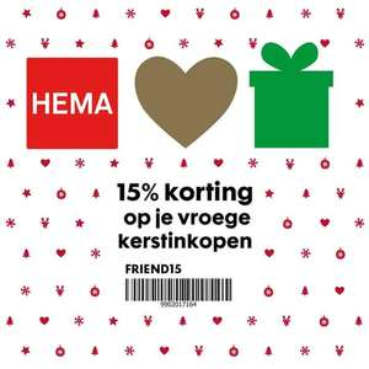 15% korting hema op vroege kerstinkopen