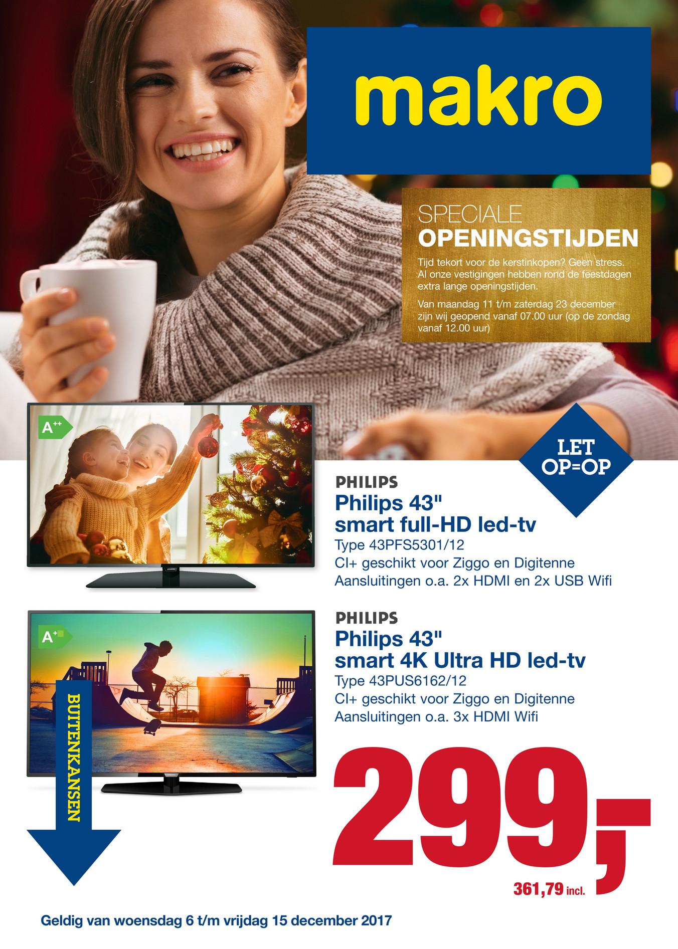 "Philips 43PUS6162 43"" 4K TV @ Makro"