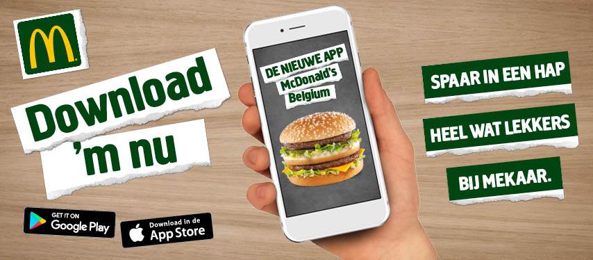 Gratis 300 punten in de McDonalds app (voor bvb een gratis cheeseburger)