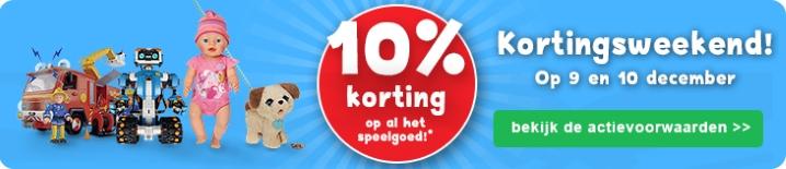 Bartsmit 10% korting op alle speelgoed ( 9 en 10 december)