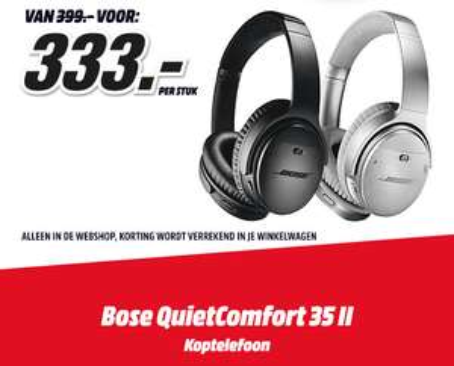 Bose QuietComfort 35 II - €333 @ Mediamarkt