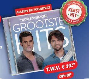 Gratis Nick en Simon CD Grootste Hits bij aankoop 2 actieproducten Nivea @ Kruidvat