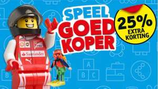 25% EXTRA korting op speelgoed - inclusief LEGO en Playmobil @ Kruidvat