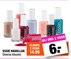 Essie nagellak - 2 voor €6 @ Big Bazar