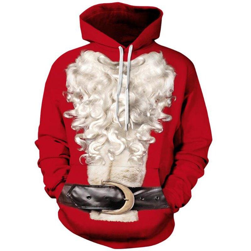 3D kerst hoodie
