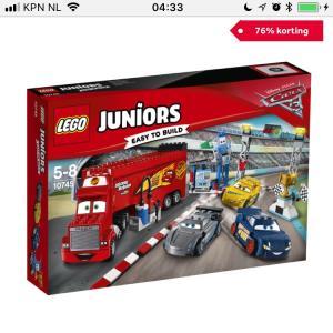 76% korting LEGO Juniors Cars 3 Florida 500 finalerace 10745 (prijsfout?)