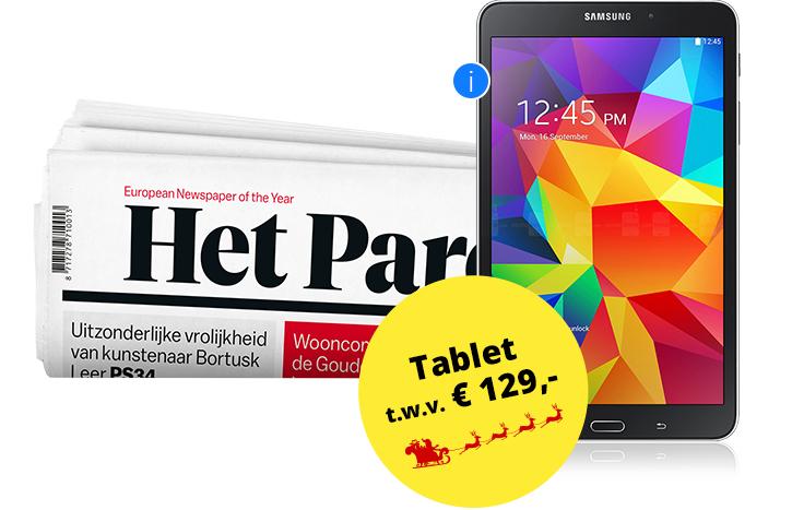 12 maanden Parool incl. Samsung A6 tablet