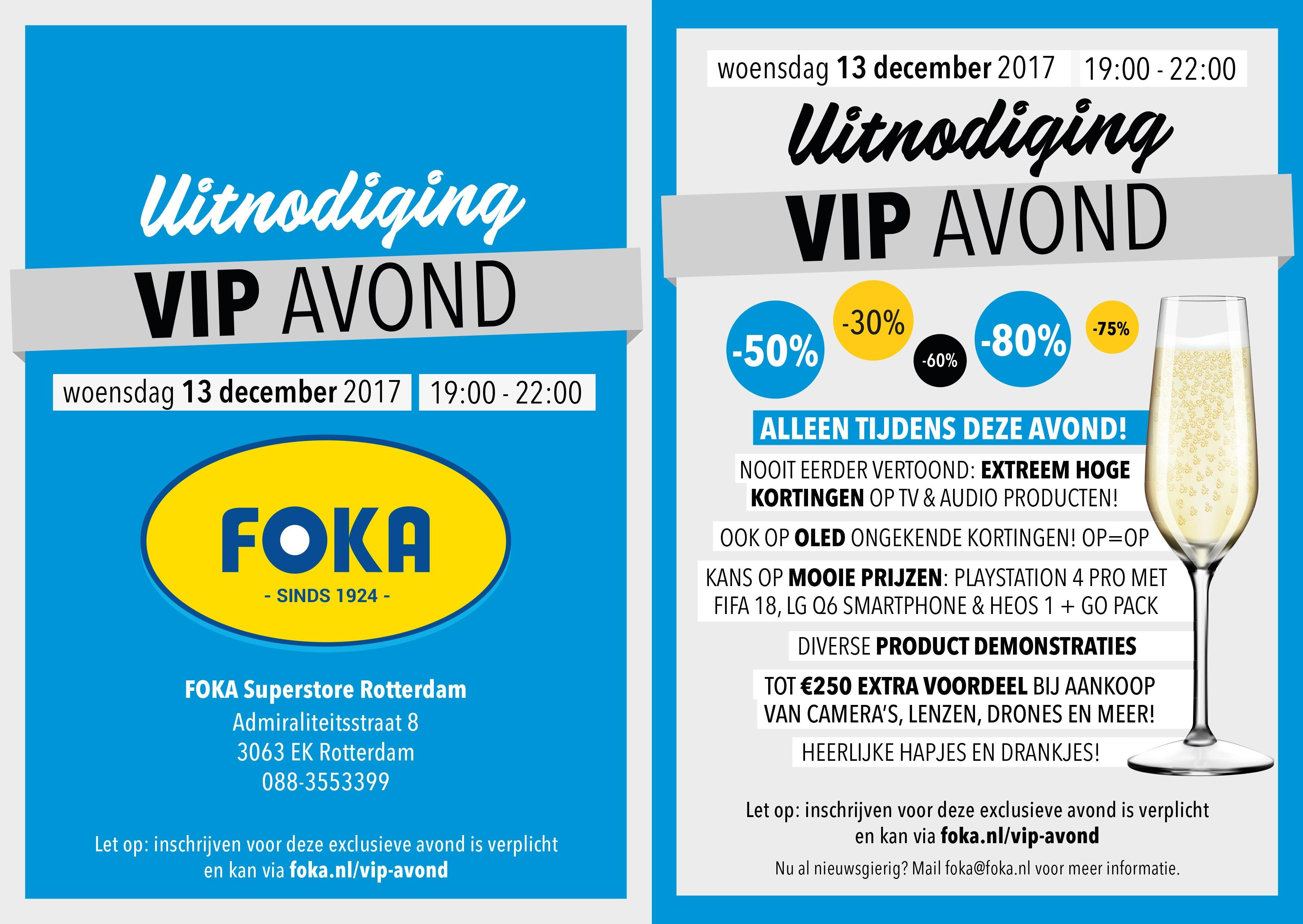 Vip-avond met diverse kortingen @ Foka Superstore Rotterdam