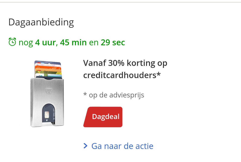 30% korting op creditcardhouder bij bol.com