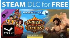 STEAM DLC for FREE: Pinball FX3 Carnivals & Legends Tables