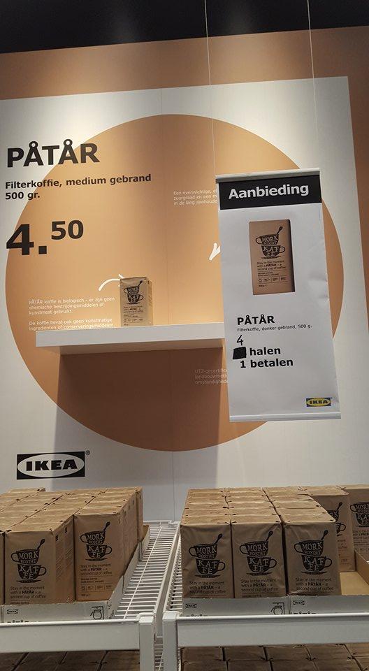 Ikea Zwolle Pondspak koffie 4 halen 1 betalen tht 15/12/17
