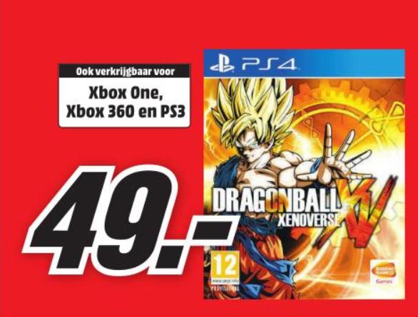 Dragon Ball: Xenoverse Pre-order (PS4/ Xbox One) voor €49,- @ Media Markt (vanaf maandag)