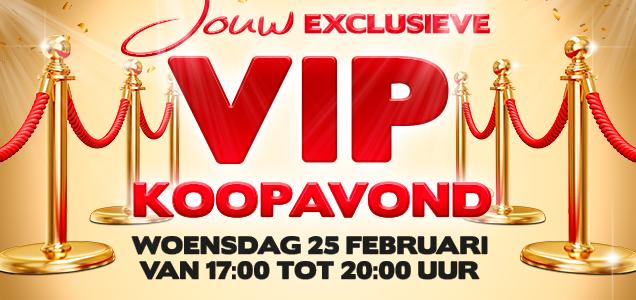 VIP Koopavond op woensdag 25 februari tussen 17.00-20.00 @ Kruidvat Winkels