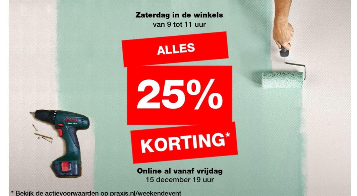 Praxis 25% korting
