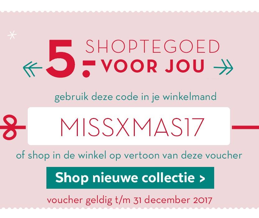 5 euro korting bij Miss Etam * gratis artikel mogelijk *