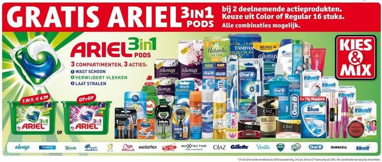 [UPDATE] Gratis Ariel 3in1 Pods t.w.v. €6,99 bij 2 actieproducten van €2,98 @ Kruidvat