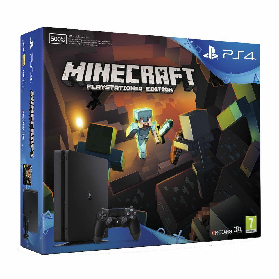 Playstation 4 slim 500GB + minecraft @ bol.com