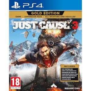 PS4 Just Cause 3 Gold Edition voor €18,99 @ Zavvi