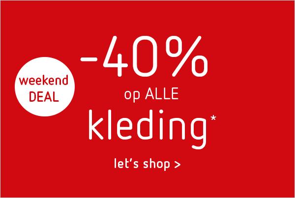 40% korting op kleding + 30% korting op schoenen @ Kleertjes.com