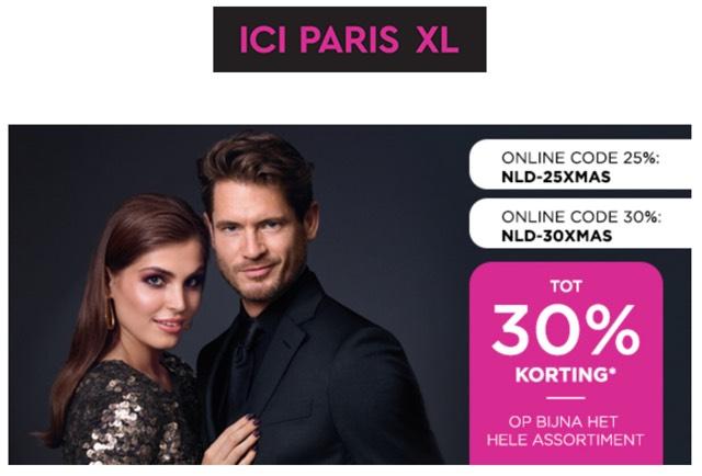 Tot 30% korting op het gehele assortiment bij ICI Paris XL