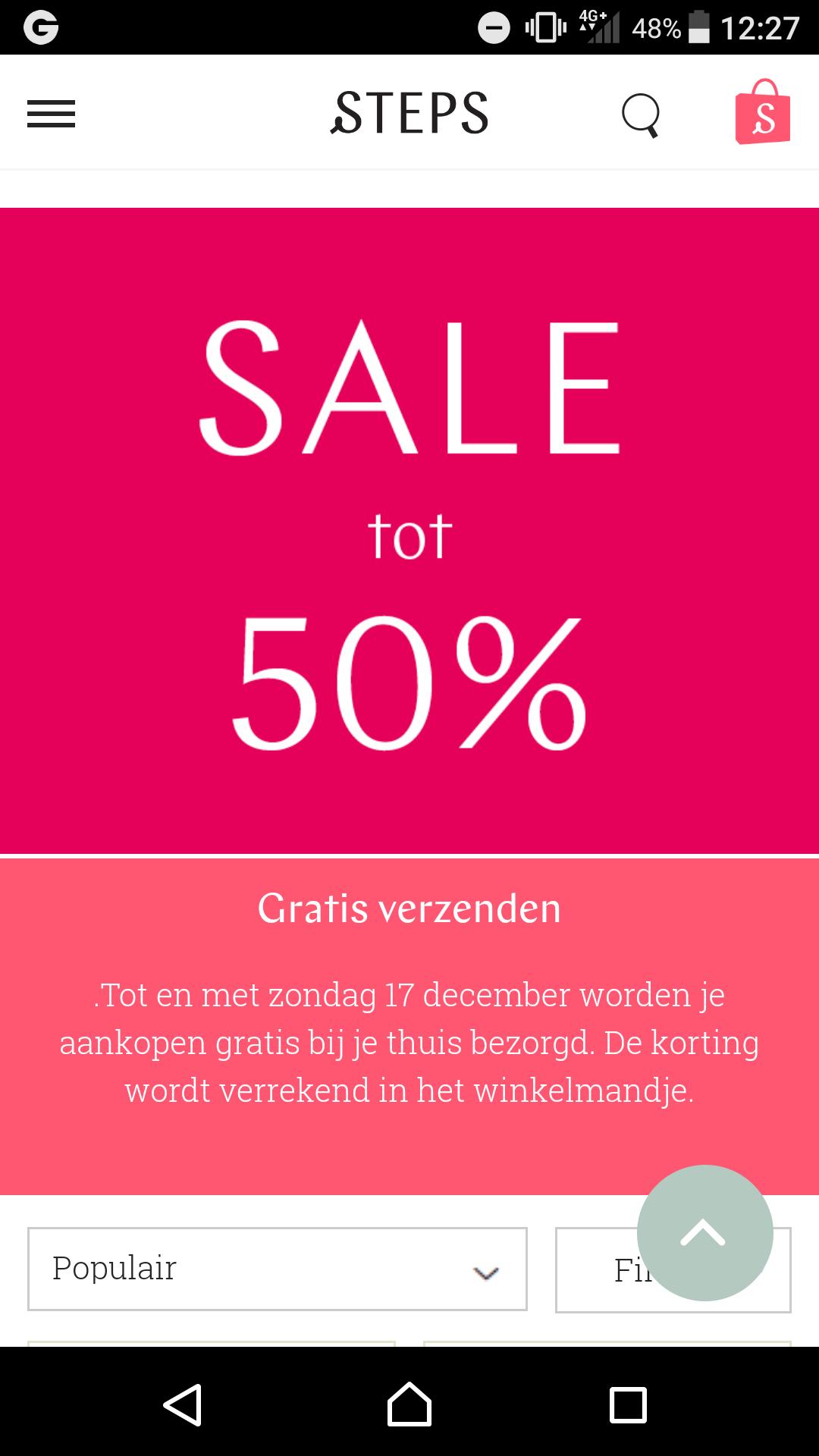 Steps tot 50% korting en gratis verzending tm zondag 17 december