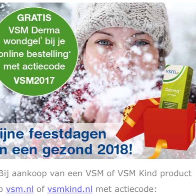 Gratis cadeautje bij aanschaf van een product door actiecode @ VSM
