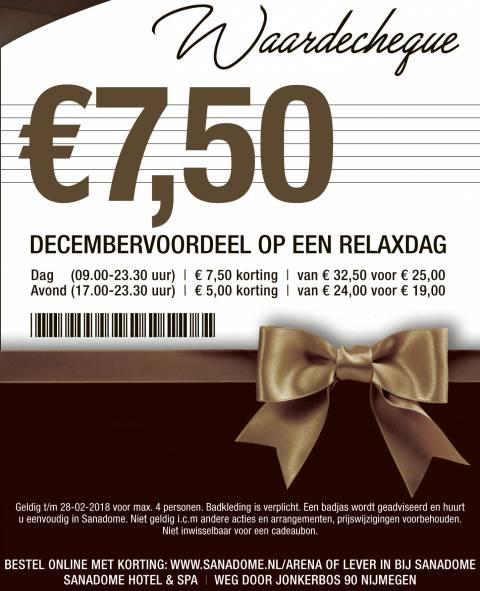 7,50 korting op toegang Sanadome Nijmegen wanneer je reserveert via de link