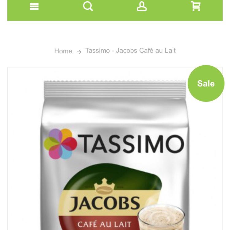 Tassimo cafe au lait voor €3,89 @ Koffievoordeelshop