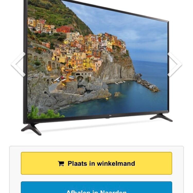 LG 65UJ630V 4k tv voor €999 @ televisiewinkel