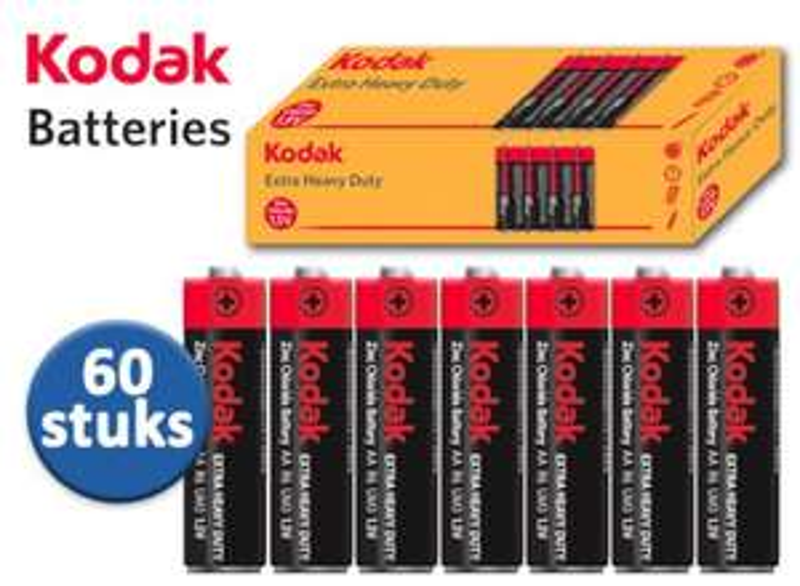 Kodak 60 AA /AAA batterijen aanbieding