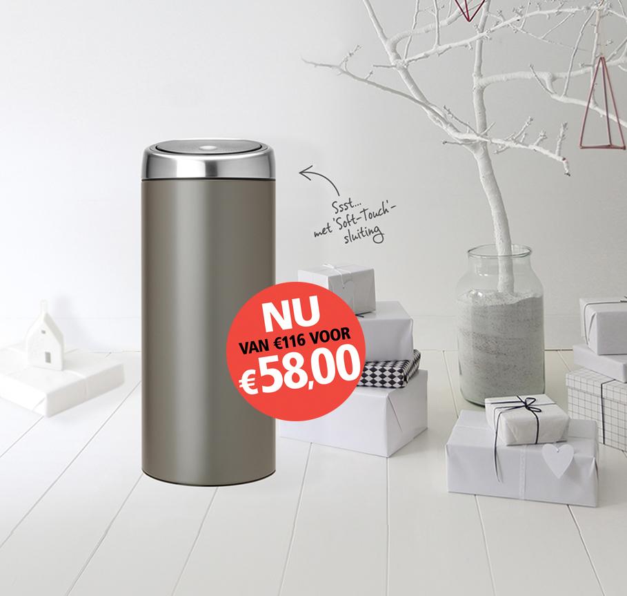Brabantia Touch Bin, 30 Liter - Platinum