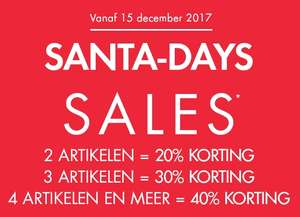 Santa-Days Sales 20-40% (extra) korting @ Kiabi